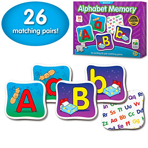 The Learning Journey: Match It! Memory - Alphabet - Capital and Lowercase Letter Matching Game with 26 Matching Pairs -