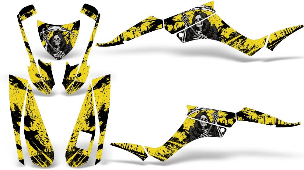 Reaper V2 Yellow Wholesale Decals ATV Graphics kit Sticker Decal Compatible with Suzuki LT-Z250 QuadSport