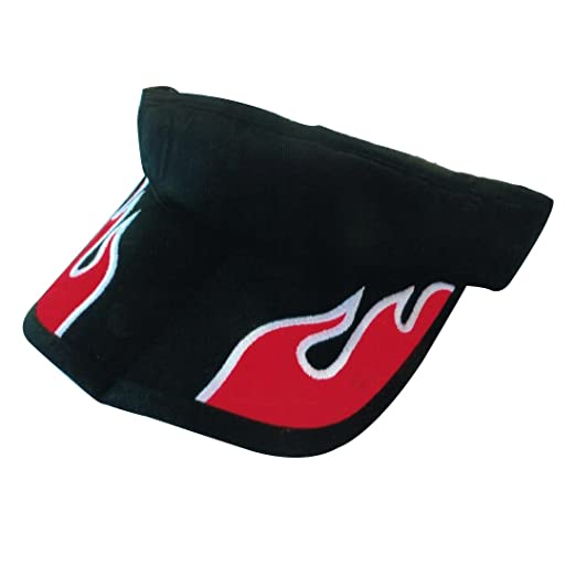 baa0459885e Amazon.com  Sun Visor Hat 100% Cotton Cool Sporting Foldable Visor  Adjustable Cap with Small Embroidery- Sports Hat  Clothing