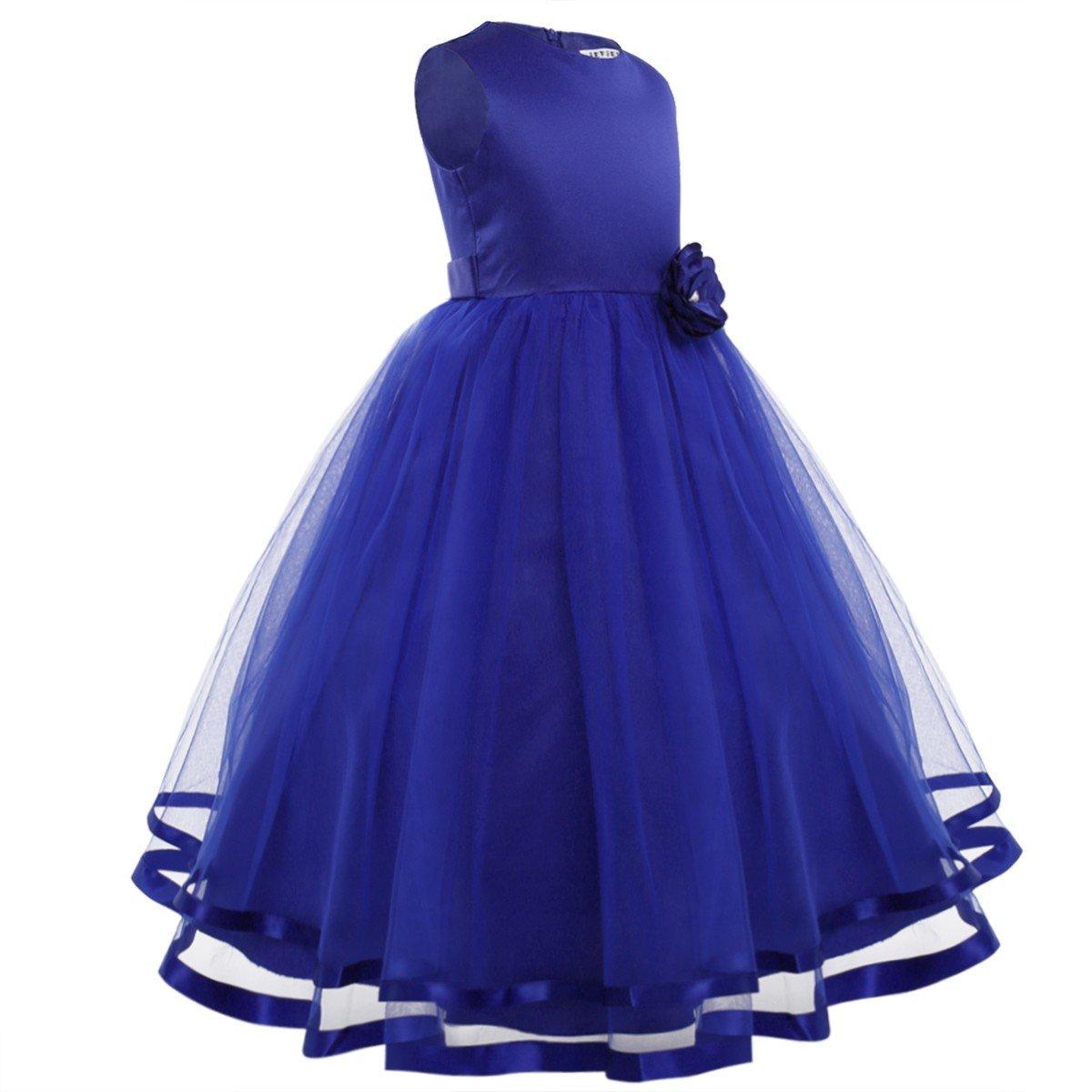Freebily Vestido Largo de Princesa para Niña (2-14 años) sin Manga ...