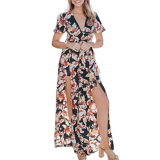 94ad0d118bbe Women Floral Print Chiffon Long Jumpsuits V Neck Wide Leg High Waist Romper  Black