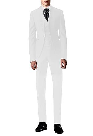 Suit Me Traje de Boda de los Hombres de 3 Piezas Trajes de Esmoquin de Fiesta Trajes de Esmoquin Blazer, Chaleco, Pantalones HN112