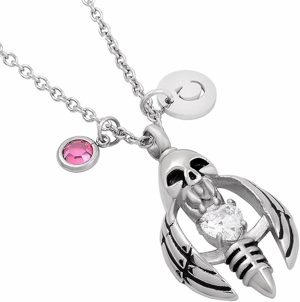 constantlife Fashion Birthstone Stainless Steel Women Pendant Necklace Keepsake Urns Jewelry