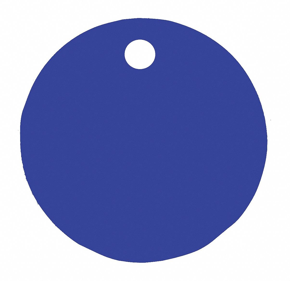 Blue Blank Tag, Aluminum, Round, 1'' Height, 5 PK