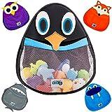 BATH TOY ORGANIZER (Penguin) - Safe & Mildew-Free - Perfect for Baby Bath Toys - Organizer w/ 2 FREE Suction Cups for Sturdy Bath Toy Storage
