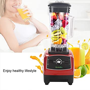 2200 W electronic Blender, licuadora para casa Muñeco kostkamm, procesador alimentos Licuadora Smoothie Licuadora rojo: Amazon.es: Hogar