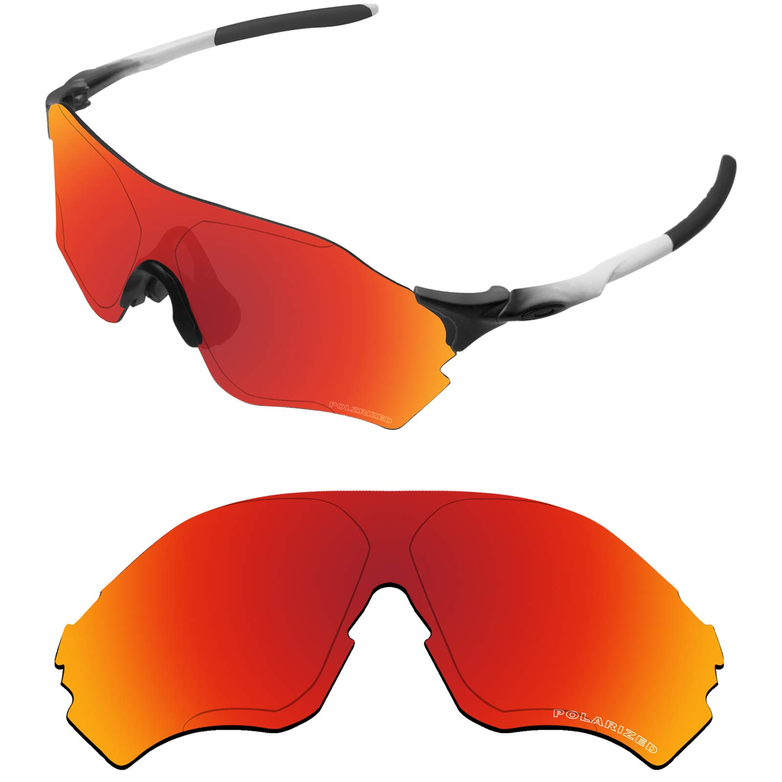 Tintart Performance Lenses Compatible with Oakley EVZero Range Polarized  Etched-Fire Red ce69bc989f