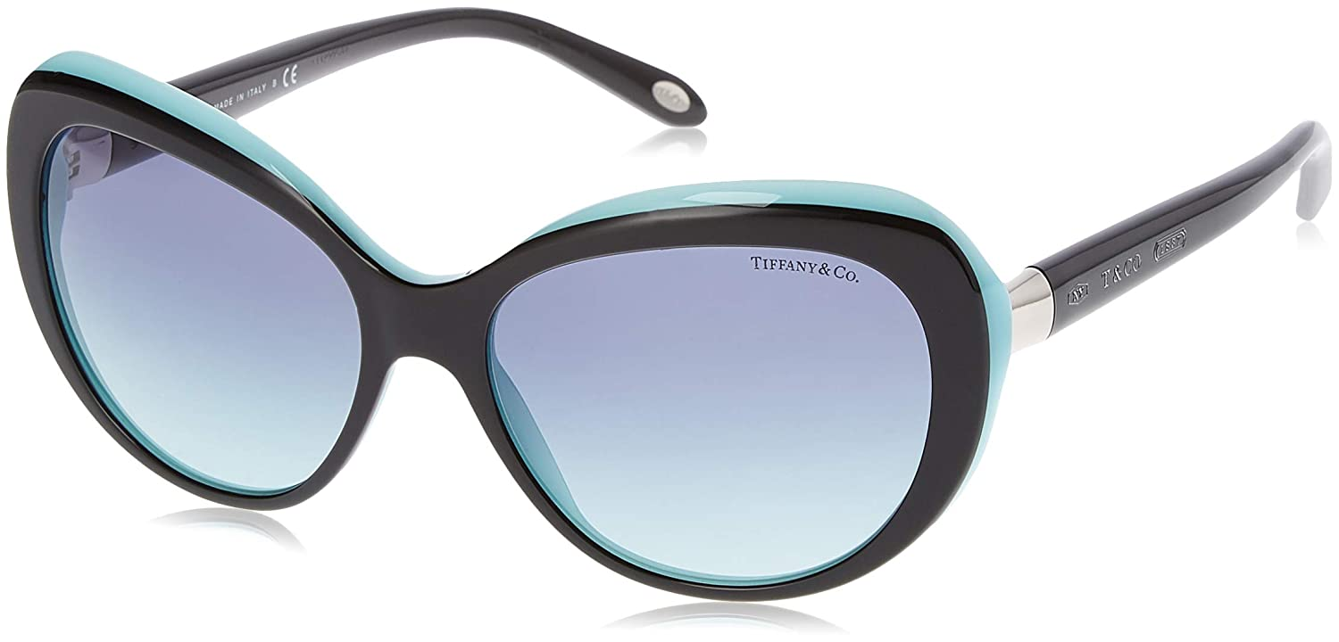 73e0faed1e68 Amazon.com  Tiffany TF4122 8055 9S Black Blue TF4122 Cats Eyes Sunglasses  Lens Category 3 S  Tiffany  Clothing