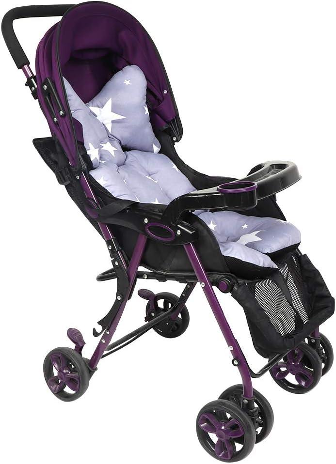 tapis de protection respirant Coussin de si/ège pour poussette Soft Baby Dining Violet Doublure de si/ège pour poussette