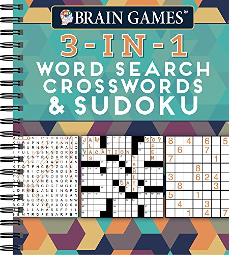 Brain Games - 3-In-1: Word Search, Crosswords & Sudoku