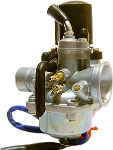 Glixal ATJOG-001 19mm Carburetor with Electric Choke for Jog 50cc 72cc 90cc 2 stroke 1PE40QMB Engine Scooter Moped PZ19J