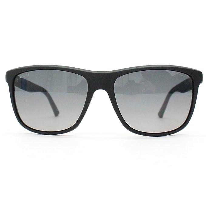 Gucci Negro de fibra de carbono brazo gafas de sol Wayfarer ...