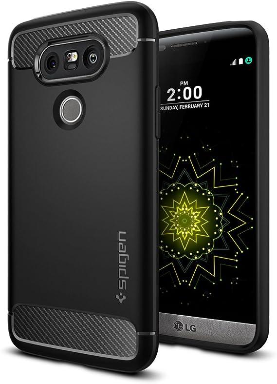 Spigen Funda LG G5, ç [Rugged Armor] Resilient [Black] Ultimate ...