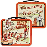 Archie McPhee Accoutrements Meat Parade Metal Lunch Box