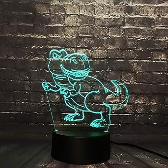 KangYD Curious Animal Tyrannosaurus 3D Night Light/LED ...
