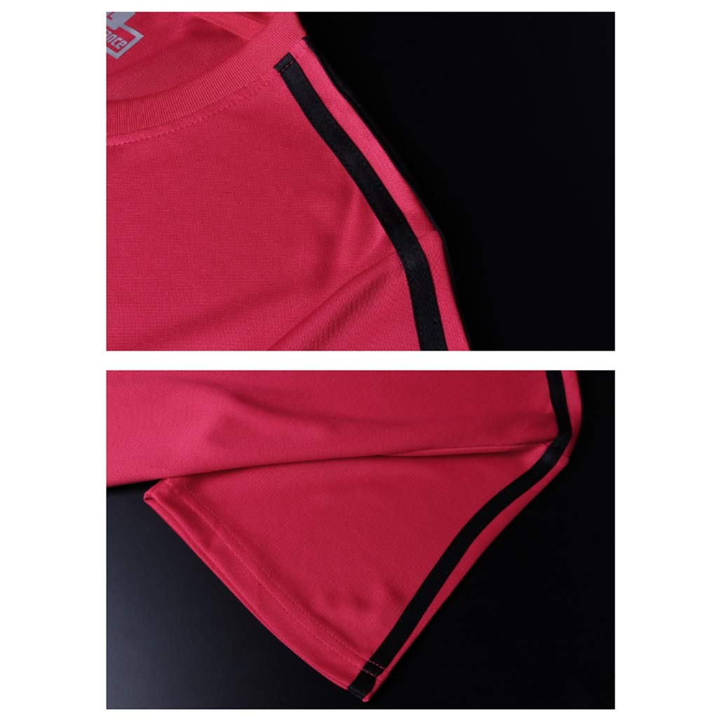Mens Sports Suits Summer Quick-Drying Workout Clothes Running Sportswear Two-Piece Suits