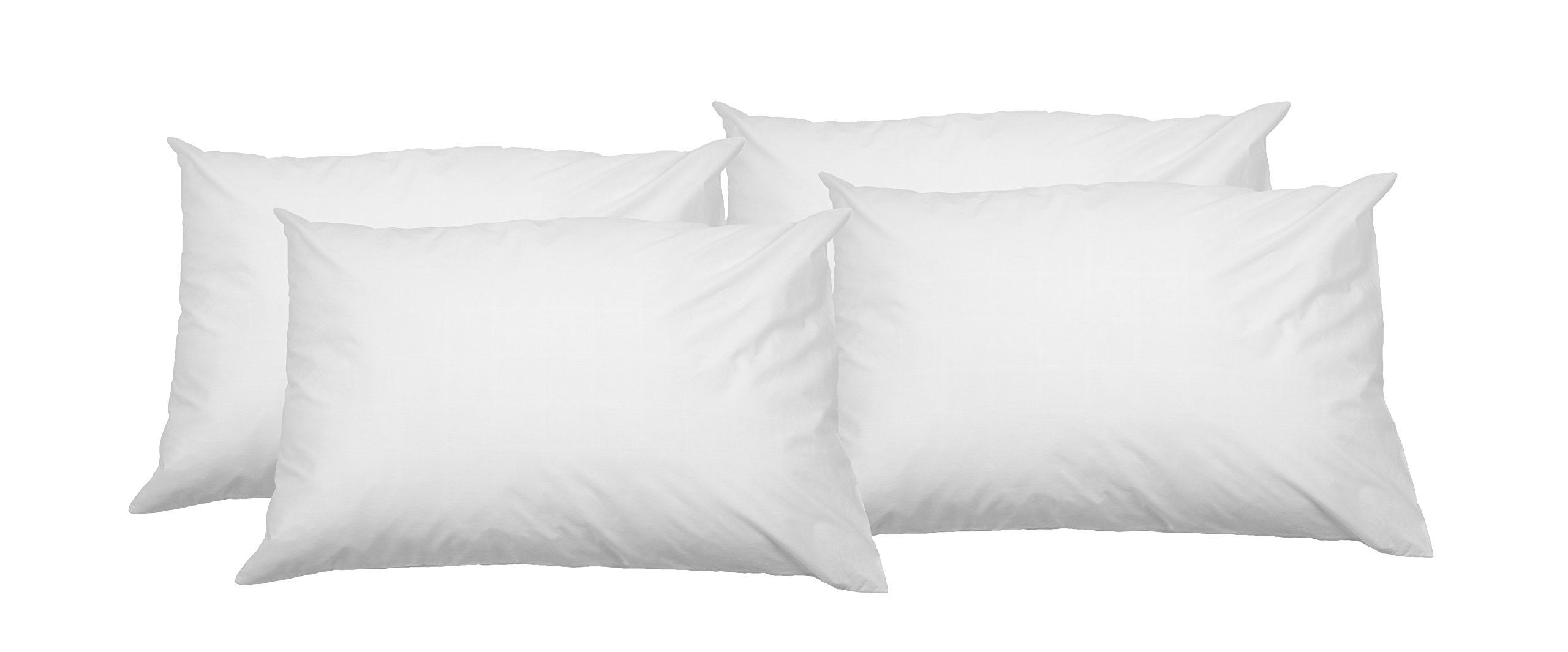 AmazonBasics - Funda de almohada suave con cremallera (100% algodón, 50 x 80