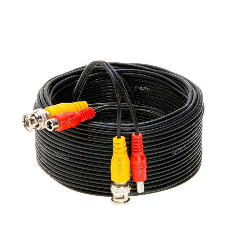 Surveillance System CCTV Plug /& Play 10FT Black Premade BNC Video Power Cable//Wire for Security Camera DVR Black, 10