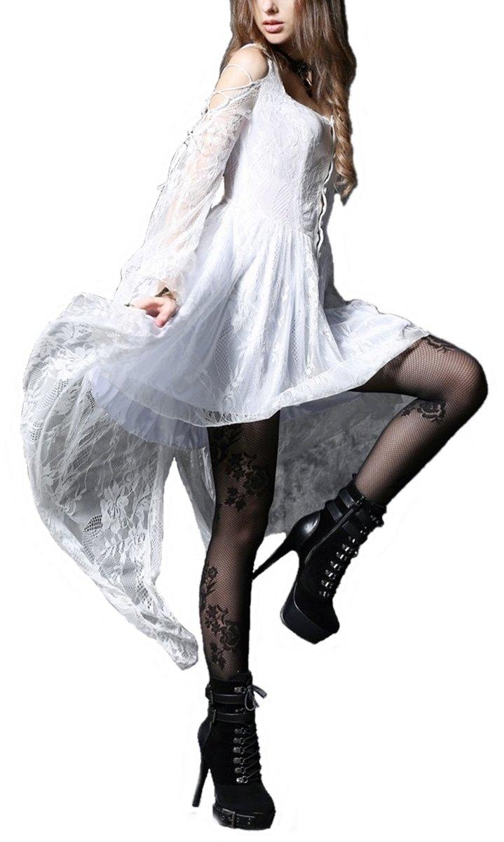 Punk Gothic Lolita Rock Petticoat burlesk Kette Kruzifix Schnürung Mode Punkrave