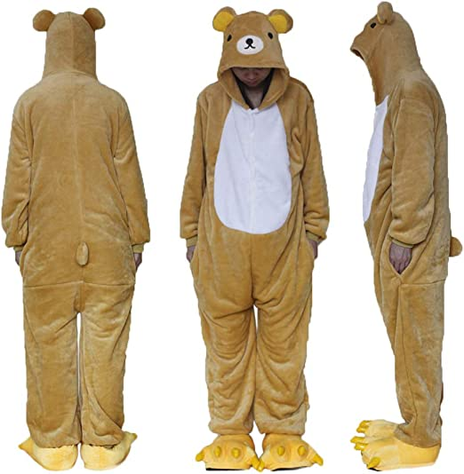 ZHANGZHIYUA Animal Cosplay Disfraz Unisex Adulto Pijamas Animal de ...