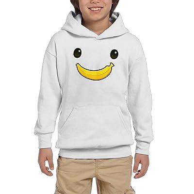 Banana Smile Teen Girls Pullover Hoodie Sweater