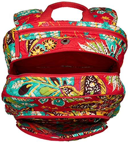 Women's Campus Tech Backpack, Signature Cotton, Rumba by Vera Bradley (Image #3)