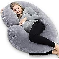 INSEN Pregnancy Pillow,Maternity Body Pillow with Pillow Cover,C Shaped Body Pillow for Pregnant Women