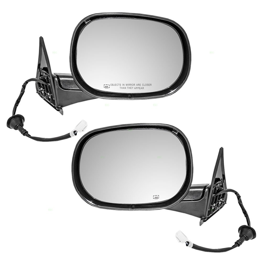 Driver and Passenger Power Side View Mirrors Heated Replacement for Dodge Pickup Truck 55076489AG 55076488AB