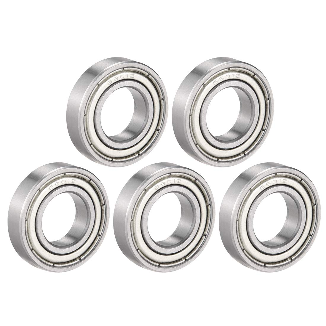 uxcell 42mm x 25mm x 9mm Silver Tone Deep Groove 6905RS Ball Bearing Replacement