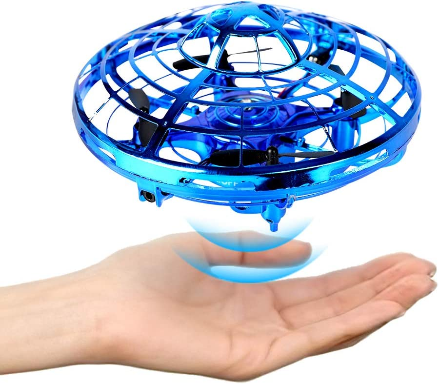 Reimotkon Mini Drone, Hand Free Operated Drone Helicopter Suspension Gesture Sensing Aircraft Self Flying Ball Drone Mini UFO Drone Toys for Kids and Adults (MD-001)