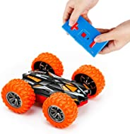 MSLAN Cyclone Mini Remote Control Car for Kids - Double Sided Fast Off Road Stunt Mini RC Cars for Boys and Girls, RC Flip C