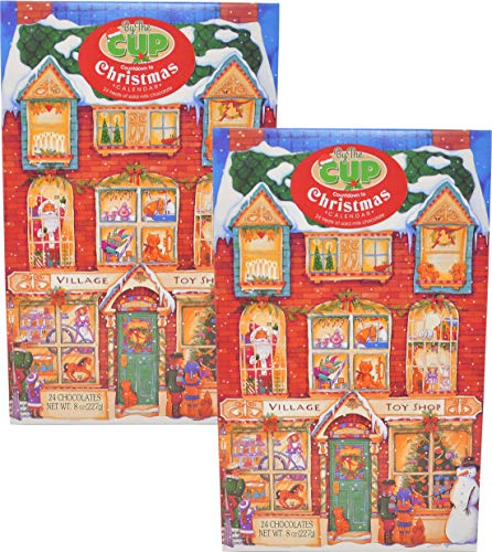 By The Cup Gourmet Solid Milk Chocolate Advent Calendar 2018 (Pack of 2)