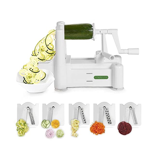 Spiralizer 5-Blade Vegetable Slicer, Strongest...