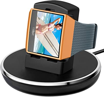 Compatible with Fitbit Ionic Charger, EPULY Accessories Women Men Charging Cable/Stand/Dock/Station with 3ft Compatible with Fitbit Ionic Smart Watch, ...