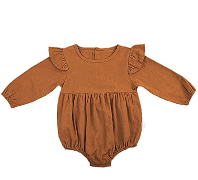21ded58e4b53 Nowimcute Infant Baby Girl Sisters Long Sleeve Bodysuit Romper Ruffles Fly  Sleeve Outfit Clothes (70