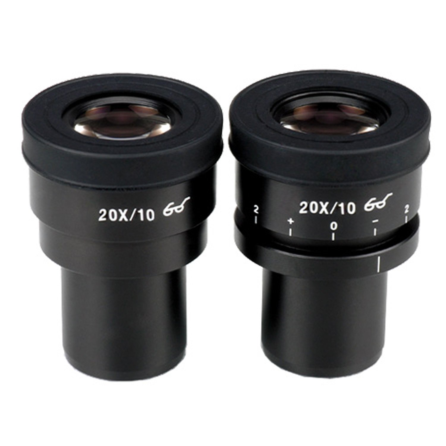 AmScope EP20X30F Pair of Focusable Extreme Widefield 20X Eyepieces (30mm) by AmScope