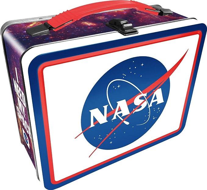 Amazon.com: Aquarius Nasa Logo caja de diversión de lata ...