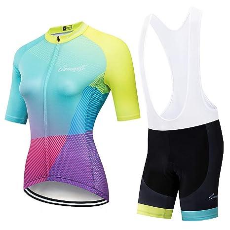 Traje de jersey de ciclismo para mujer Traje de ciclismo ...