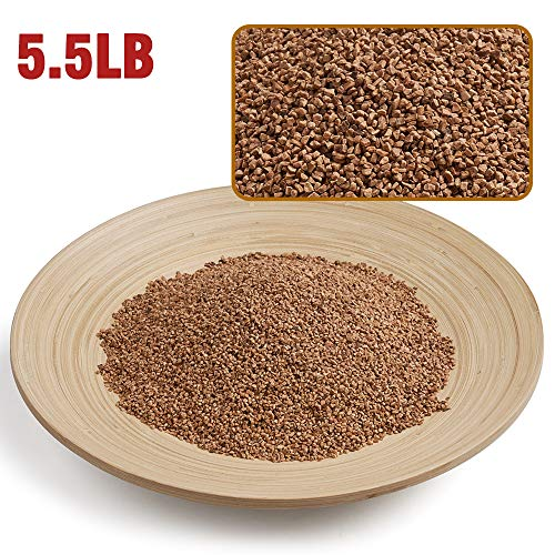 5.5 Pounds Walnut Shells Desert Blend for Desert Dwelling Reptiles, Reptile Pets Litter Pad, Pin Cushion, WAYES Precision Walnut Grain Vibratory Tumbling Media for Brass and Metal Cleaning & Polishing
