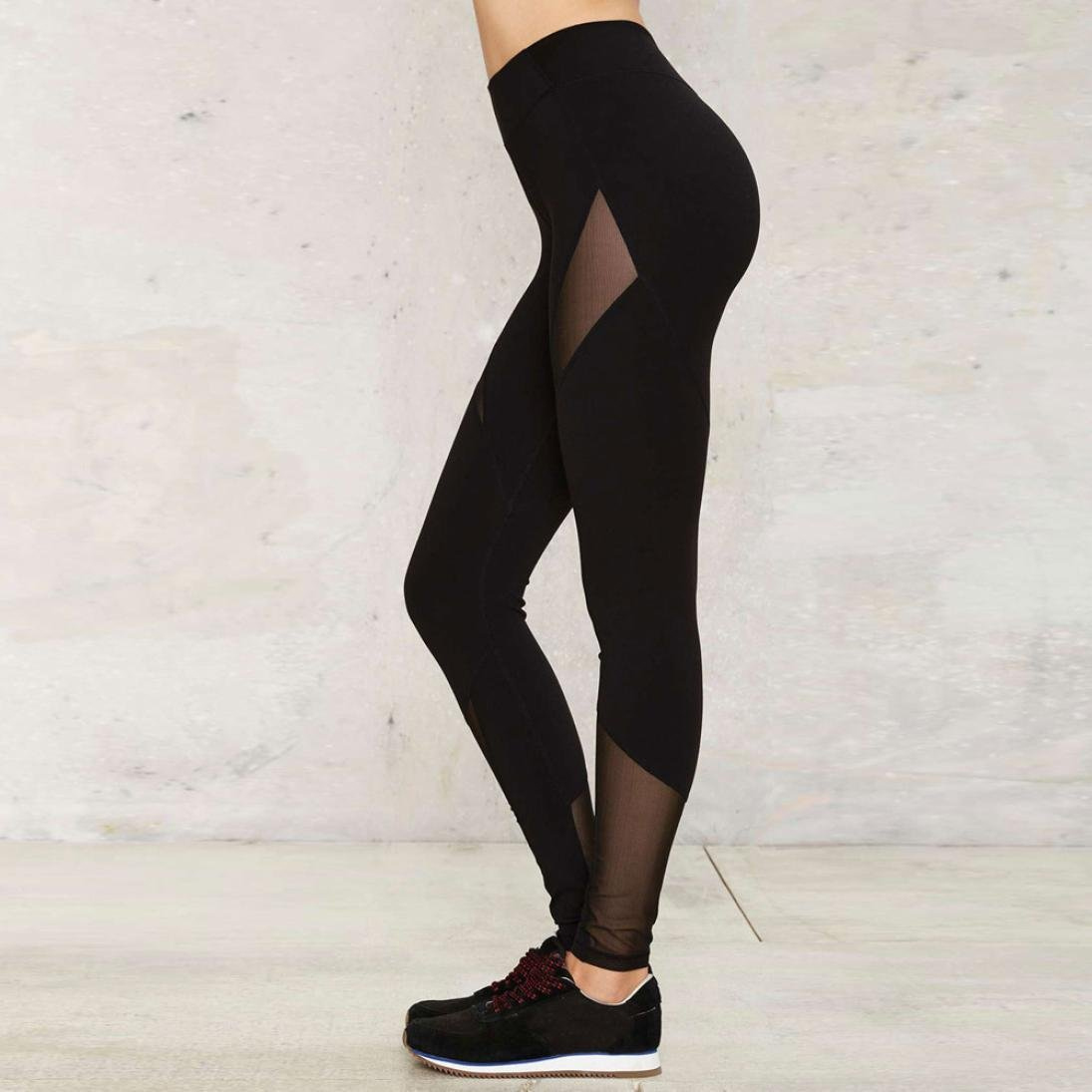 39f738397c7061 ... Skinny Yoga Pants, Pocciol Casual Mesh Leggings Women Dry Fit Workout  Trousers PO-1