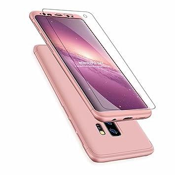 Funda Samsung Galaxy A6 2018, Carcasa Samsung Galaxy A6 2018 con [ Cristal Templado] 3 en 1 Desmontable 360 Grados Anti-Arañazos Protectora Caso, Oro ...