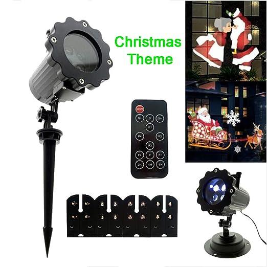 Proyector Luces para Navidad, Tema Navideño 4 Modos Proyector ...