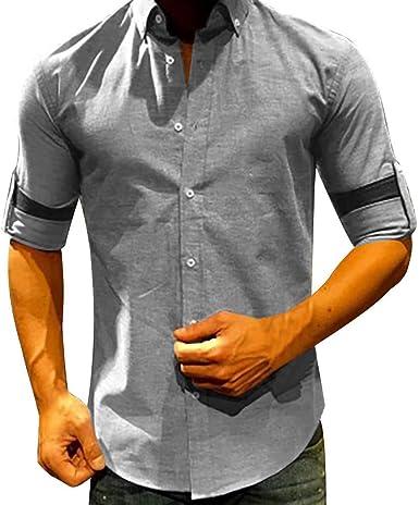 Innerternet-Camisa de Hombre, 001 Camisa de Manga Larga de ...