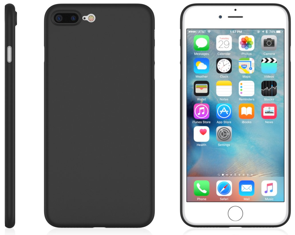 iPhone 7 Plus MNML Thin Case (Matte Black)