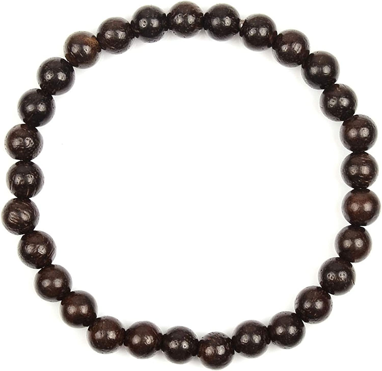 Obsidiana-esencial para hombre Pulsera de abalorios de plata esterlina 925-De Hombre Con Cuentas Pulsera