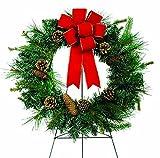Sympathy Silks® 24in Pine Cone Wreath on Easel (WR1170) Sale