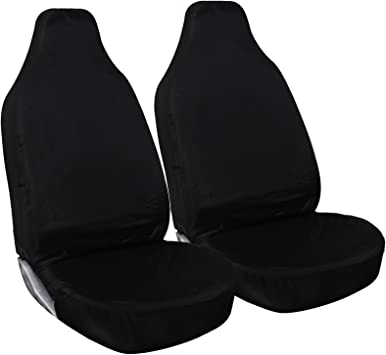 H Duty Black Waterproof Seat Covers//Protectors 2 x Fronts AUDI A3 S3 RS3