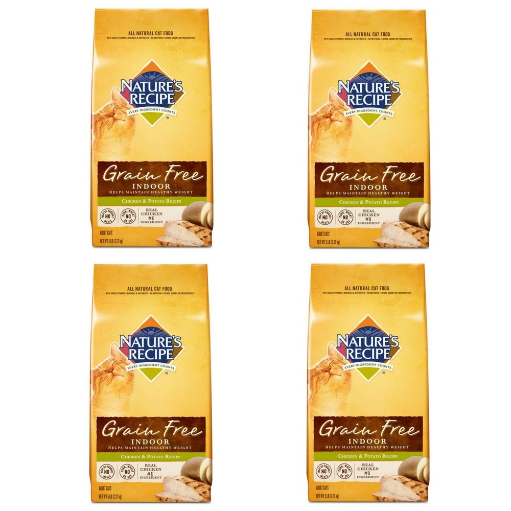 Nature's Recipe Grain Free Chicken and Potato Cat Food 5-Pound (4 pack)