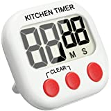 Digital Kitchen Timer, EIVOTOR Large LCD Display Cooking Timer with Loud Alarm, Magnetic Retractable Backing, Stand and Minute Second Count Up Countdown etc. Blue