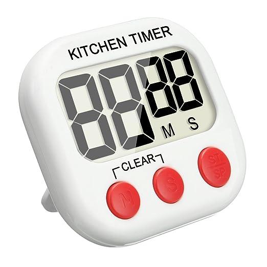 40 opinioni per Timer da Cucina, EIVOTOR Magnetico Digitale Timer da Cucina Con Allarme Forte e